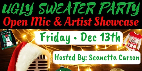 Level Up Open Mic & Artist Showcase - Ugly Sweater Party tickets