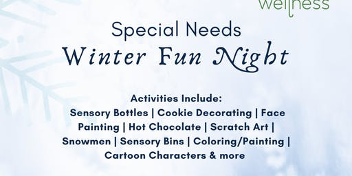 Special Needs Winter Fun Night: Winter Arts and Crafts
