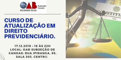Curso de Atualização em Direito Previdenciário - Reforma da Previdência