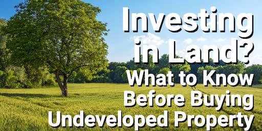 Real Estate(Land) investment seminar