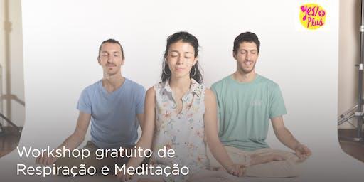 Workshop de Respiração e Meditação em Florianópolis - uma introdução gratuita ao curso Arte de Viver Yes!+