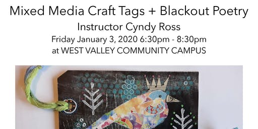 Mixed Media Craft Tags + Blackout Poetry