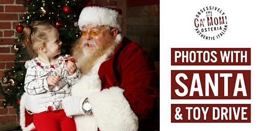 PHOTOS WITH SANTA AT CA' MOMI OSTERIA!
