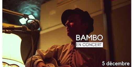 Bambo en concert à la Péniche Légia