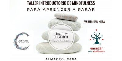 Taller Introductorio de Mindfulness para Aprender a Parar