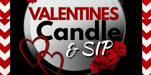 Valentine Candle and Sip
