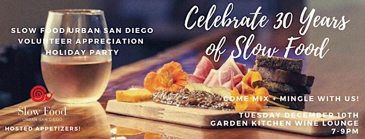 Slow Food Urban San Diego Volunteer Appreciation Holiday Party image