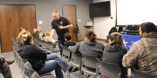 Kids Firearm Safety 1 @ The Albany Police Department Sponsored By Ace Buyers
