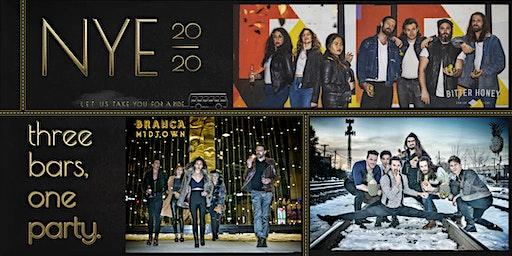 New Years Eve Bash: The Revelry / Branca Midtown / Bitter Honey