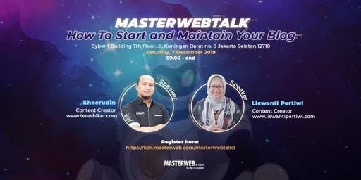 MasterwebTalk: How To Start and Maintain Your Blog