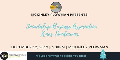 McKinley Plowman and JBA Xmas Sundowner - MEMBERS ONLY tickets
