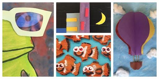 3D Pop Out Art Homeschool Weekly Class (5-12 Years)