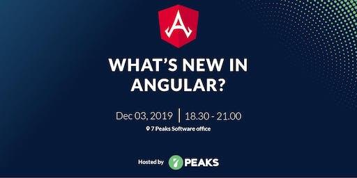 What's new in Angular