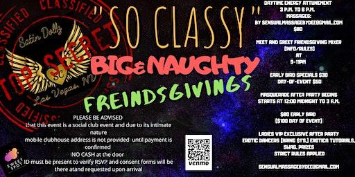 Big & naughty friendsgiving presented by Satin Dolls social club