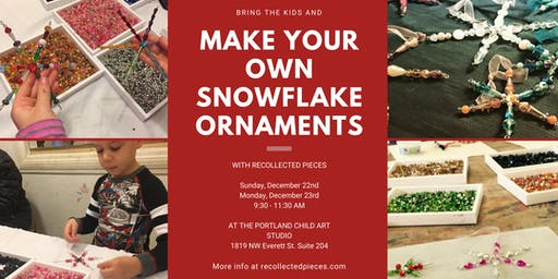 Beaded Snowflake Ornament Making in NW PDX - Dec 22 & 23, 2019