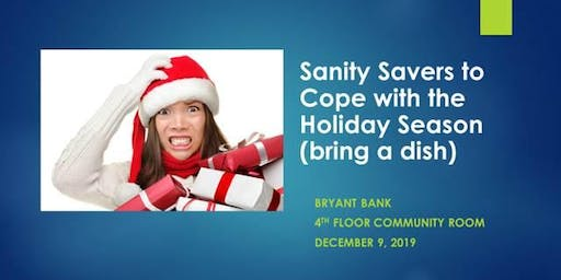 Sanity Savers to Cope with the Holiday Season
