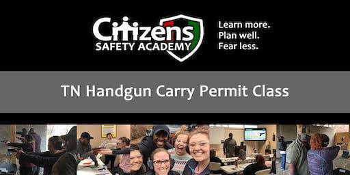 Handgun Carry Permit Class