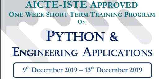 AICTE-ISTE approved STTP on Python and Engineering Applications