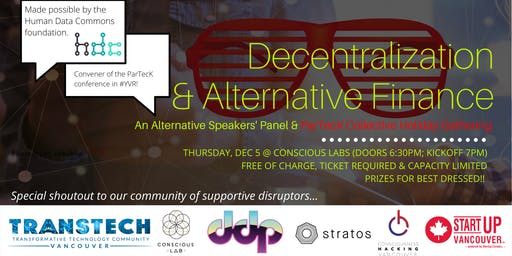 [SOLD OUT] Decentralization & Alternative Finance: A Holiday Panel Event