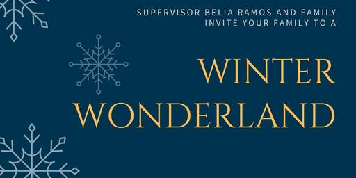 Winter Wonderland Hosted by Supervisor Belia Ramos