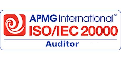 APMG – ISO/IEC 20000 Auditor 2 Days Virtual Live Training in Winnipeg tickets