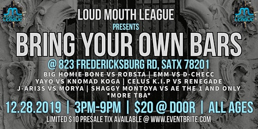 Loud Mouth League presents Bring Your Own Bars