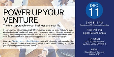 Power Up Your Venture: A Team Approach to Your Business and Life tickets