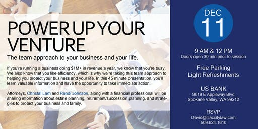 Power Up Your Venture: A Team Approach to Your Business and Life
