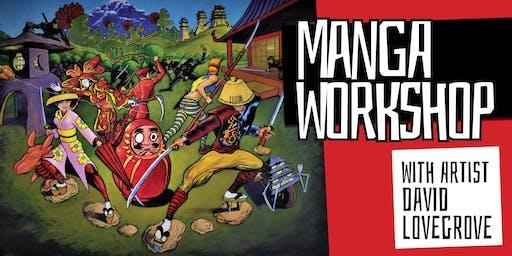 Manga Workshop with Artist David Lovegrove - Hervey Bay Library - Ages 12+