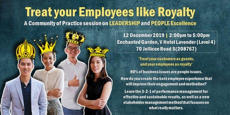 Treat Your Employees Like Royalty tickets