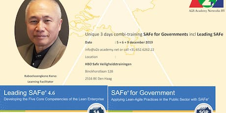 SAFe for Government + Leading SAFe tickets