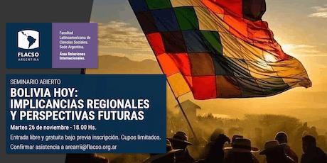 "Seminario abierto ""Bolivia hoy"" entradas"