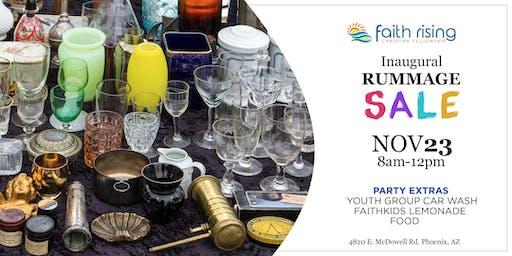 Faith Rising Inaugural Rummage Sale & Car Wash