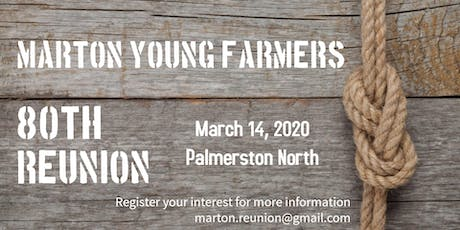 Marton Young Farmers 80th Reunion - Evening Event tickets