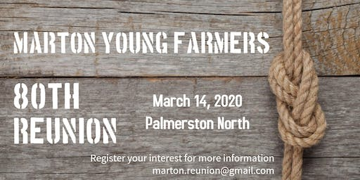 Marton Young Farmers 80th Reunion - Evening Event