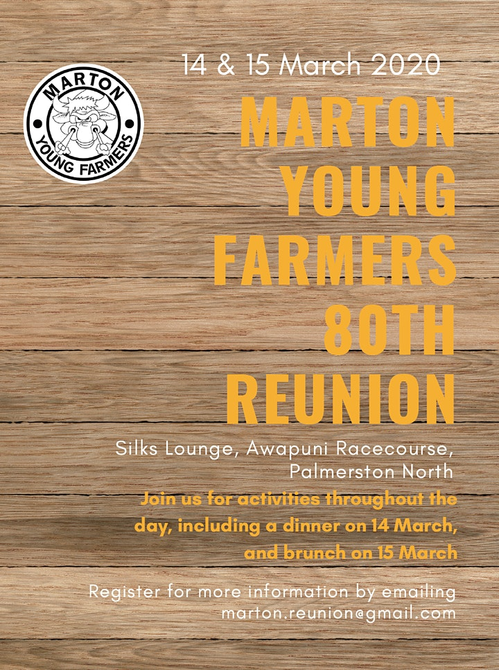 Marton Young Farmers 80th Reunion - Evening Event image
