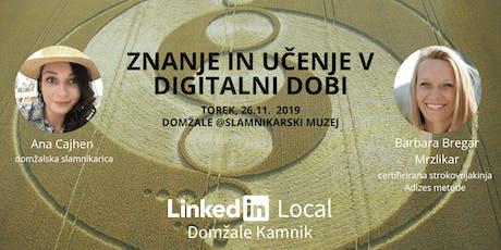5. #LinkedInLocal Domžale Kamnik ~ Znanje in učenje v digitalni dobi tickets