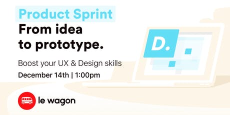 Product Sprint: from Idea to Prototype - Workshop tickets