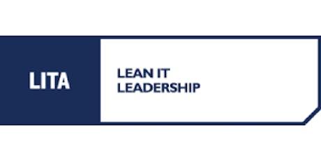 LITA Lean IT Leadership 3 Days Virtual Live Training in Canberra tickets