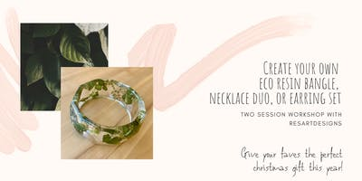 ResArtDesigns Eco Resin Botanical Bangle [2 PART] Workshop