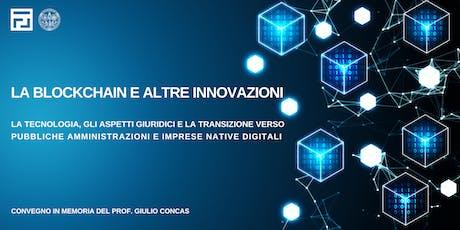 La Blockchain e altre innovazioni biglietti