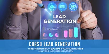 CORSO LEAD GENERATION. Cattura Contatti, trasformali in Clienti. biglietti