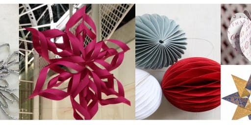Hand Made Paper Decorations - Christmas