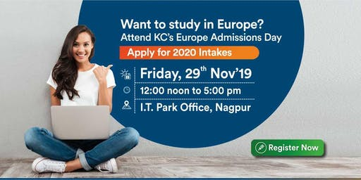 Europe Admissions Day at Krishna Consultants - 29th Nov'19 (Free Entry)