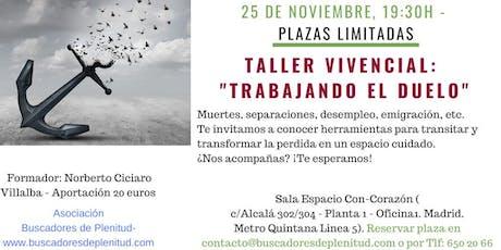 """Talleres Vivenciales """"Trabajando El Duelo"""" entradas"""