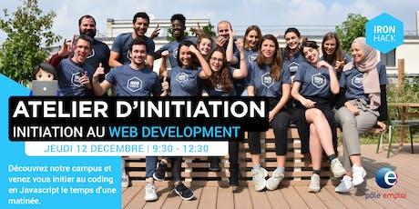 ATELIER D'INITIATION - Introduction au code HTML/CSS/Javascript billets