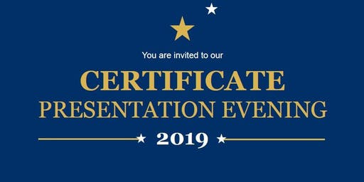 Certificate Presentation Evening
