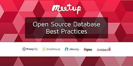 Open Source Database  Best Practices tickets