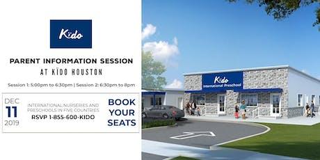 Kïdo Rice Village Preschool Information Session, Wednesday, 11th December tickets