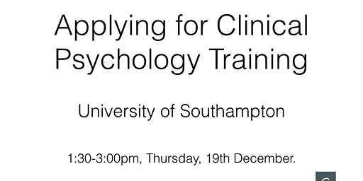 Applying for Clinical Psychology Training